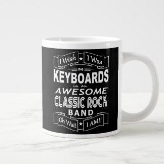 KEYBOARDS awesome classic rock band (wht) Large Coffee Mug