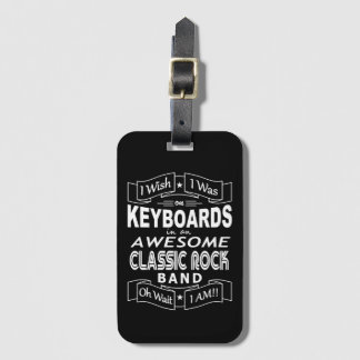 KEYBOARDS awesome classic rock band (wht) Luggage Tag