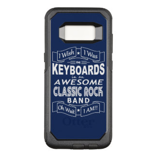 KEYBOARDS awesome classic rock band (wht) OtterBox Commuter Samsung Galaxy S8 Case