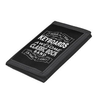 KEYBOARDS awesome classic rock band (wht) Trifold Wallet