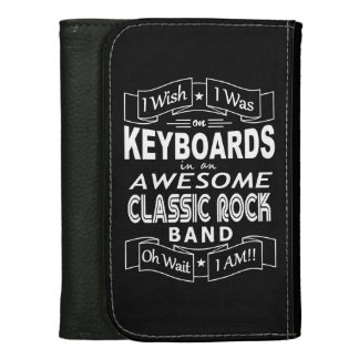 KEYBOARDS awesome classic rock band (wht) Women's Wallet