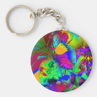 Keychain Abstract Art Floral Explode Key Chains