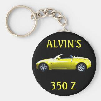 KEYCHAIN-ALVIN'S 350 Z BASIC ROUND BUTTON KEYCHAIN