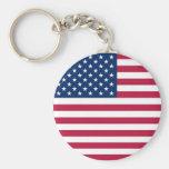 Keychain avec le drapeau des Etats-Unis