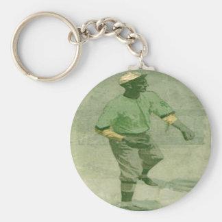 Keychain Baseball Art In Vintage Style