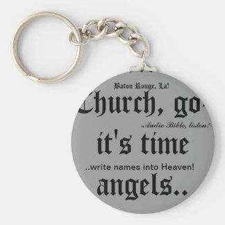 Keychain/Baton Rouge, La/christian witness wear Basic Round Button Keychain