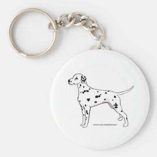 Keychain -- Black Dalmatian