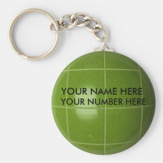 Keychain Bocce Ball With Your Name, Your Number