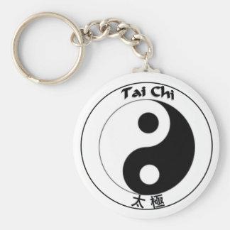 Keychain button Tai Chi Logo