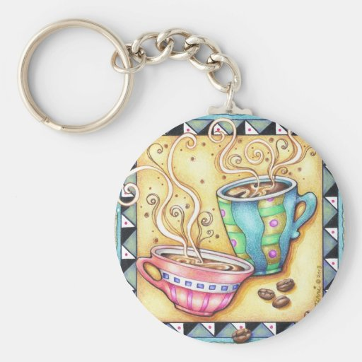 KEYCHAIN - COOL BEANS! COFFEE ART