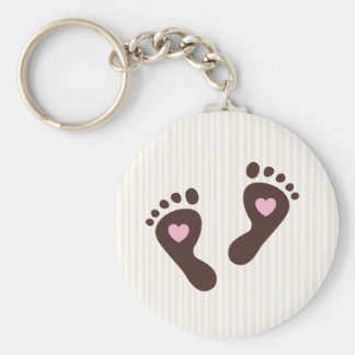 Keychain: Cream and chocolate baby feet Keychain