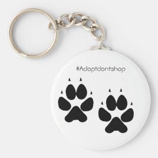 Keychain doggie feet #adoptdontshop