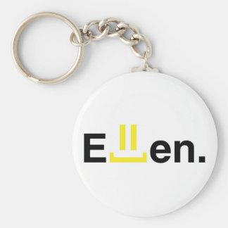 Keychain: Ellen Basic Round Button Keychain