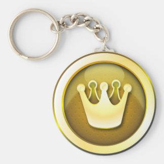 Keychain glossy crown symbol