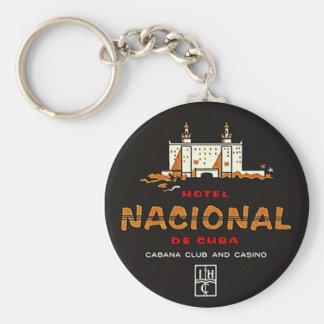 KEYCHAIN HOTEL NACIONAL DE CUBA VINTAGE AD LABEL