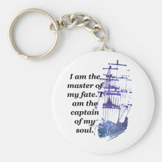Keychain I am the master of my fate