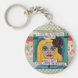 Keychain-I chose the road less travelled Keychain