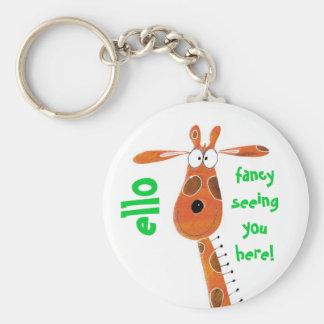 Keychain / Keyring... Funky Giraffe