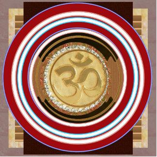 KEYCHAIN OM MANTRA Spiritual Yoga Meditation Chant Photo Sculpture Keychain