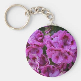 """Keychain, """"Purple Azalea Blossoms"""" Keychain"""