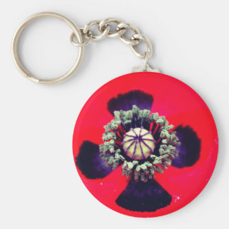 Keychain red poppy