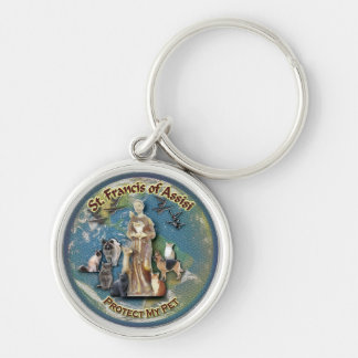 Keychain - Saint Francis of Assisi Protect My Pet
