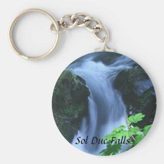 Keychain: Sol Duc Falls Basic Round Button Keychain