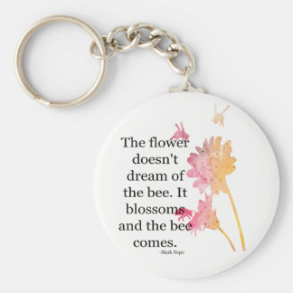 Keychain The flower doesn't dream of the bee