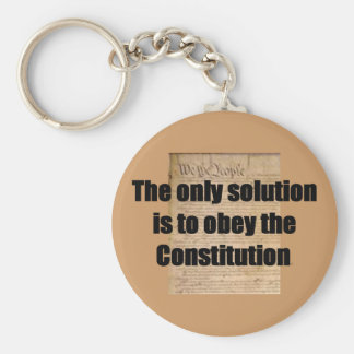 Keychain w/ Constitution /The only solution
