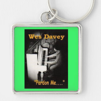 Keychain: Wes Davey; Album Cover Silver-Colored Square Keychain