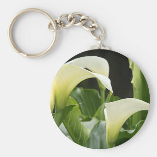 "Keychain, ""White Calla Lillies # 3159"" Keychain"