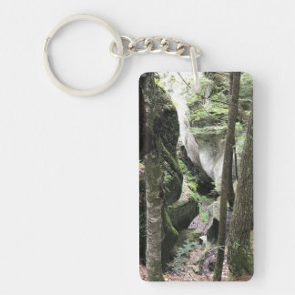 Keychain with beautiful photo of the woods