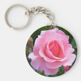 Keychain with beautiful pink rose
