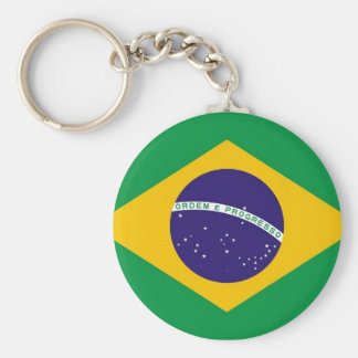 Keychain with Flag of Brazil