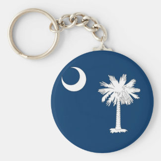 Keychain with Flag of South Carolina State