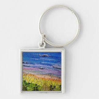 Keychain with surreal landscape