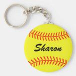 Keychains du base-ball de Personalizable Porte-clé