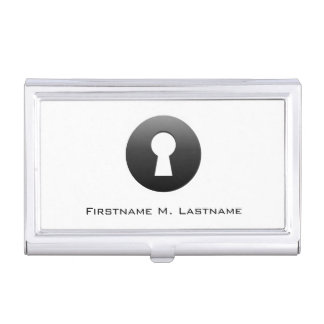 Keyhole Button Business Card Holder