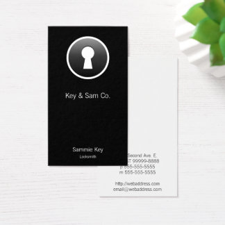 Keyhole Button-style Business Card