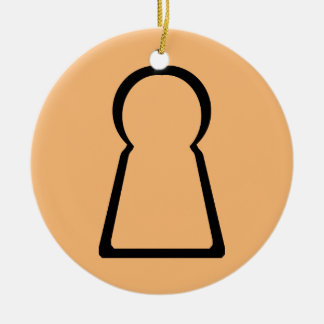 Keyhole-Hollow Ceramic Ornament