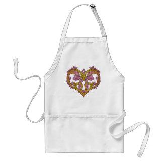 Keyhole Lock Heart Design Adult Apron