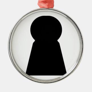 Keyhole Metal Ornament