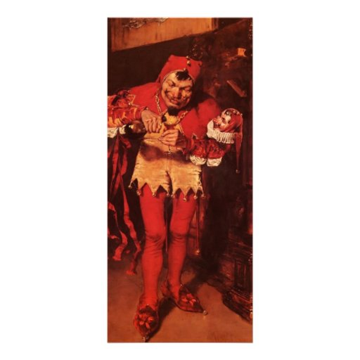Keying Up, The Court Jester by William Chase Custom Rack Cards