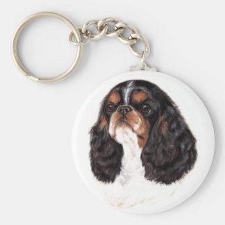 Keyring : English Toy ( king charles) spaniel Basic Round Button Keychain