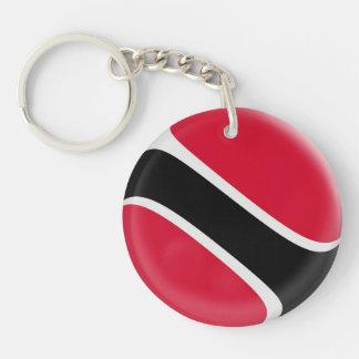 Keyring Trinidad & Tobago flag Single-Sided Round Acrylic Keychain