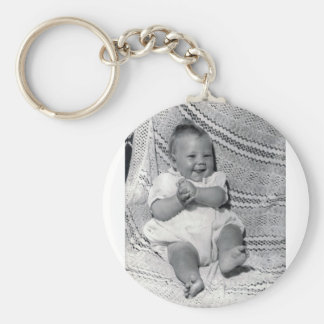 Keyring with baby Michael Basic Round Button Keychain