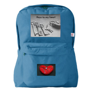 keys and lock to my heart backpack