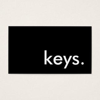 keys. business card