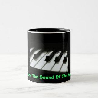 keys, I Love The Sound Of The Keys Two-Tone Coffee Mug