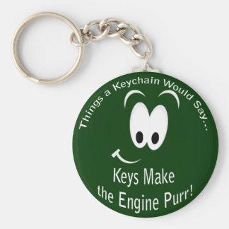 Keys Make the Engine Purr Keychain